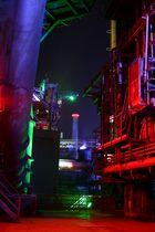 Farbspiel bei Nacht
