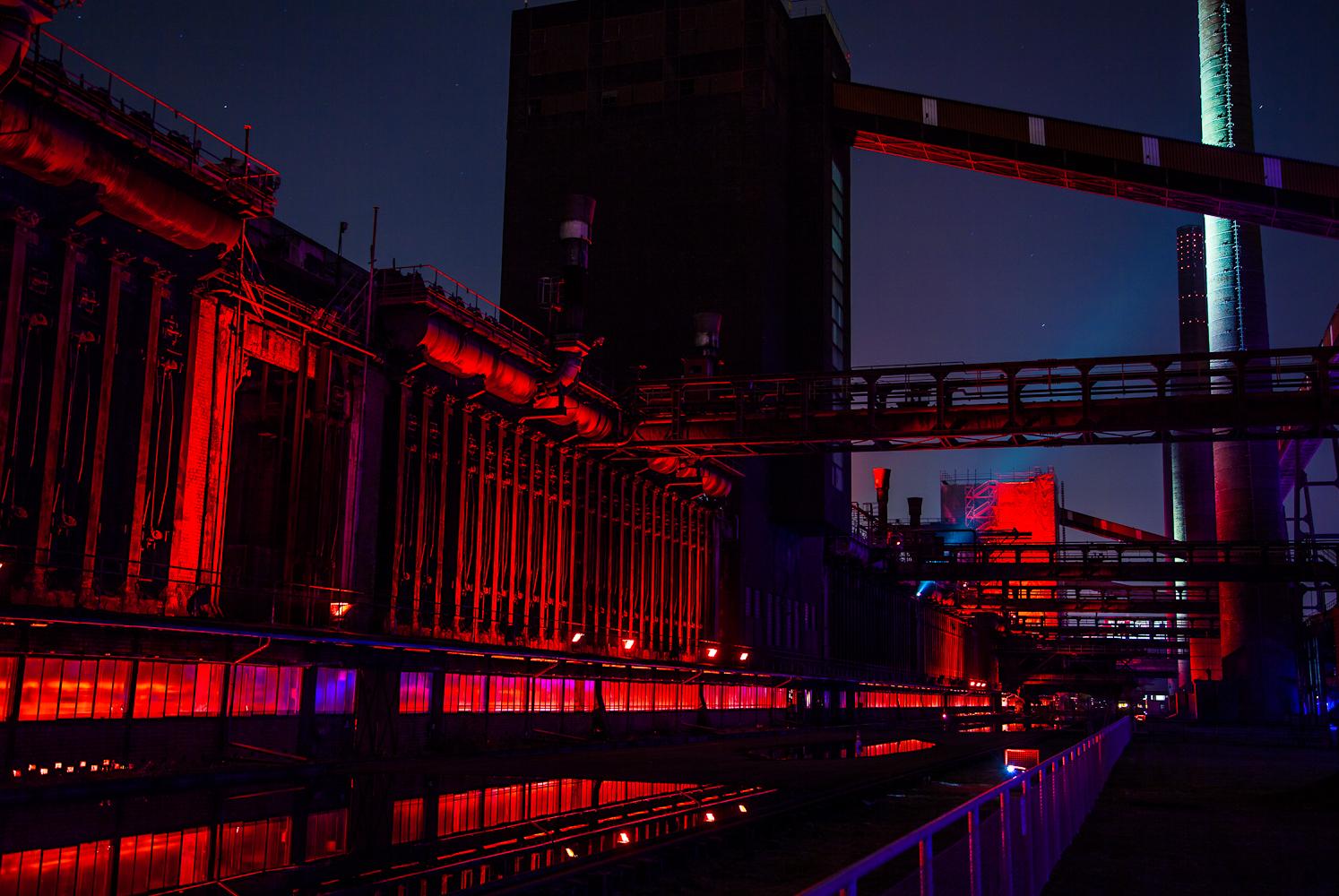 Farbspiel Zeche Zollverein
