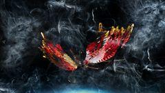 farfalla nel fumo