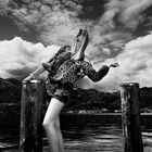 Fashion on the lake B W