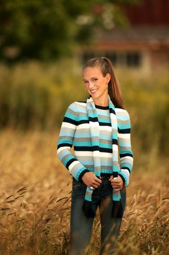 fashionable in wheat field