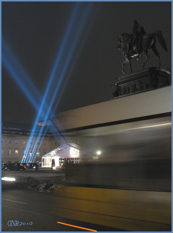 Fashionweek Berlin 2010 - zum letzten Mal am Bebelplatz - und der Friedrich der Große...