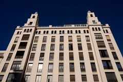 Fassade an der Gran Via, Madrid