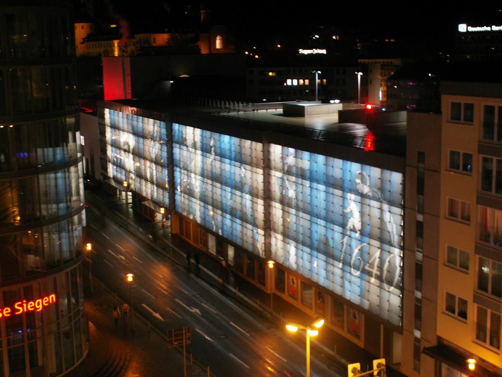 Fassade Apollo Parkhaus in Siegen
