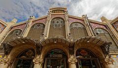 Fassade der Zentralmarkthalle Valencia