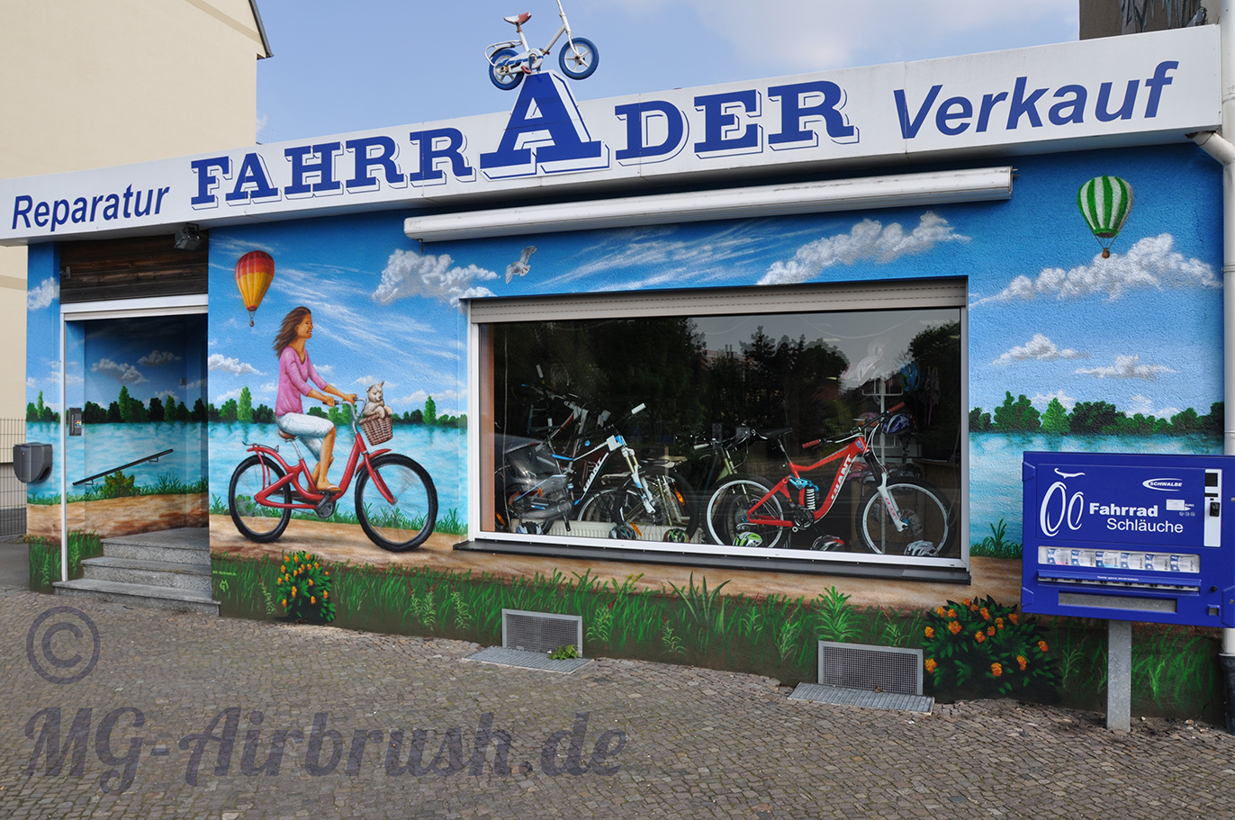 Fassade Fahrrad-Geschäft