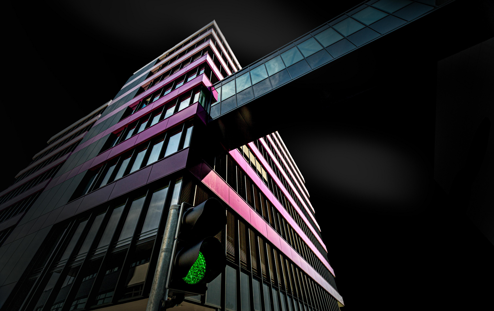 Fassade mit Farbabstufung
