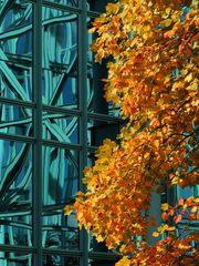 Fassade mit Herbstgold