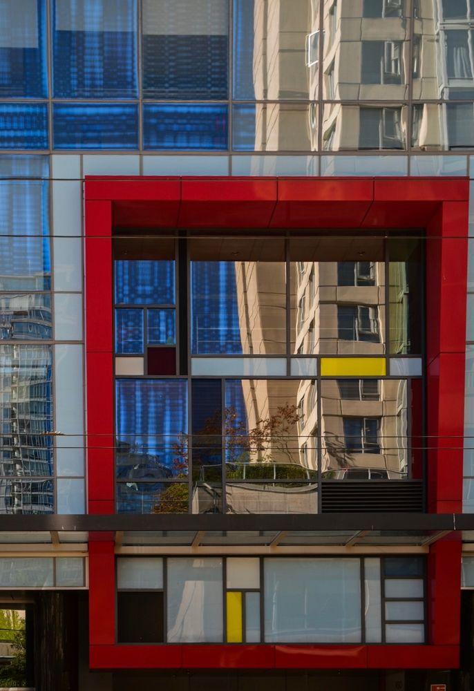 Fassade Rot Blau Gelb Foto Bild World Farbe