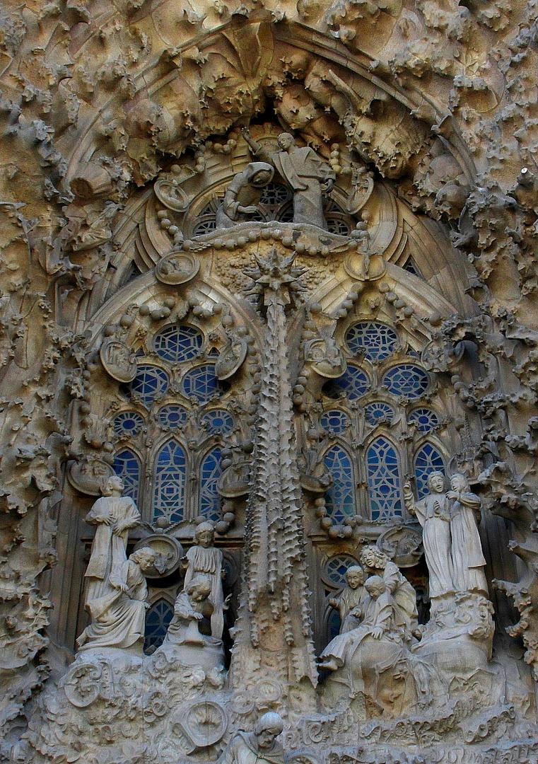 Fassade Sagrada Familia ( Ausschnitt )