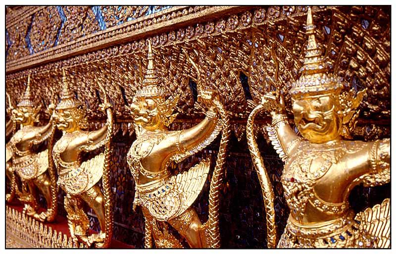 Fassadendetail - Wat Phra Kaeo, Bangkok