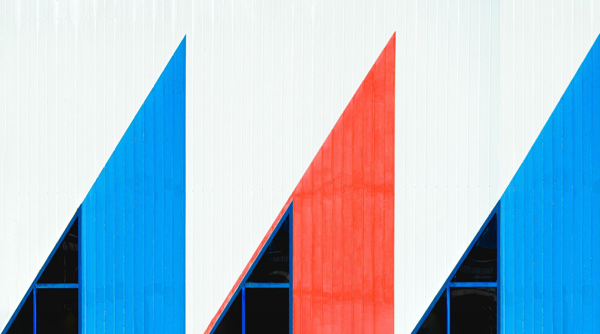 Fassadengrafik   Dreiecke