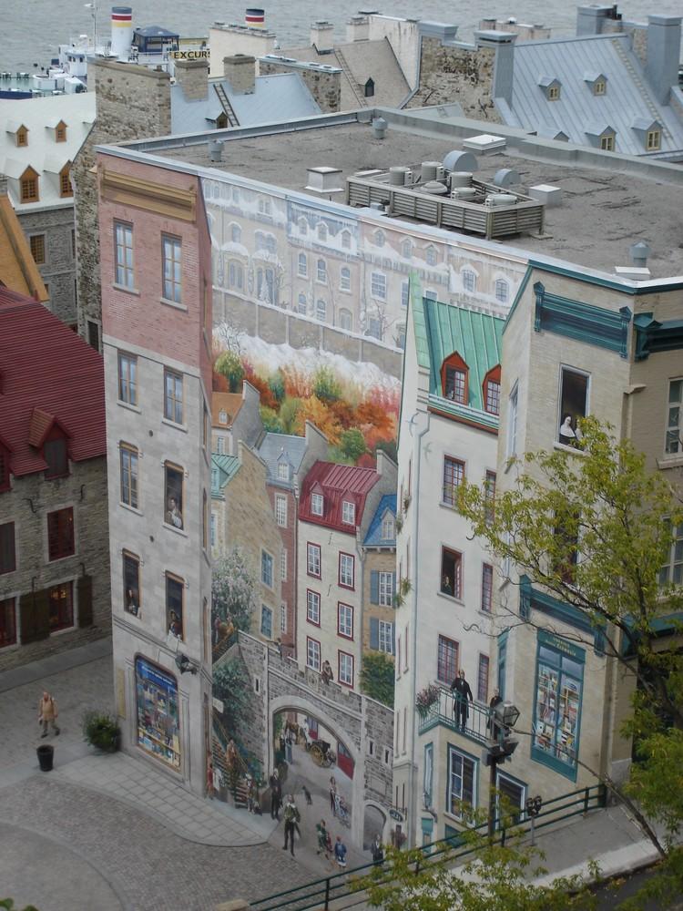 Fassadenmalerei in Québec