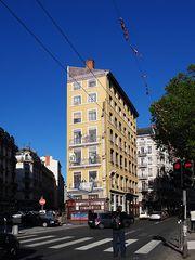 Fassadenmalerei, nicht unüblich in Lyon