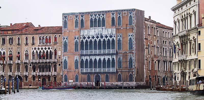 Fassadenrenovation in Venedig