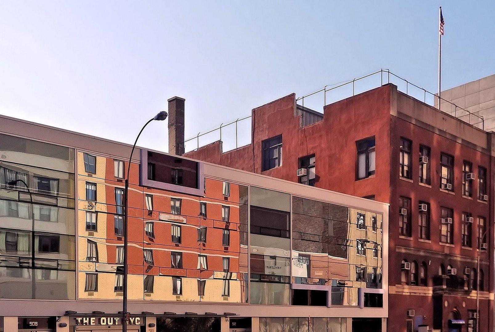 fassadenspiegelung midtown westside new york