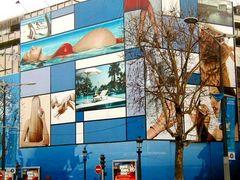 Fassadenverkleidung gesehen in Paris