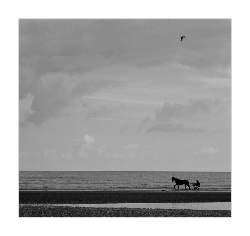 fast allein am Strand