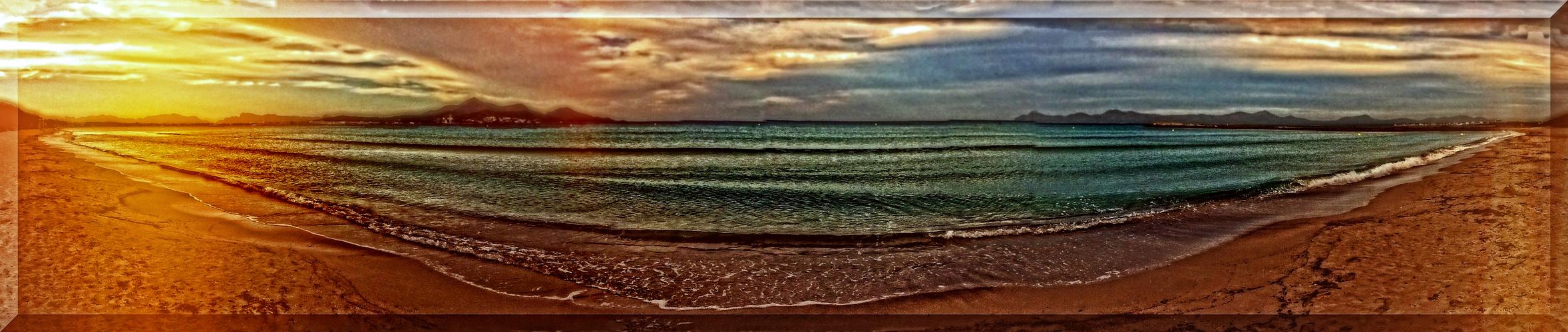 """""""fast gemalt"""" - am Strand von Alcudia"""