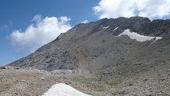 Fast oben- der Gipfel des Corno Grande 2912 m (Westgipfel)