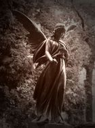 Faszination in Sepia (Bronze Engel Mystik Friedhof Trauer)