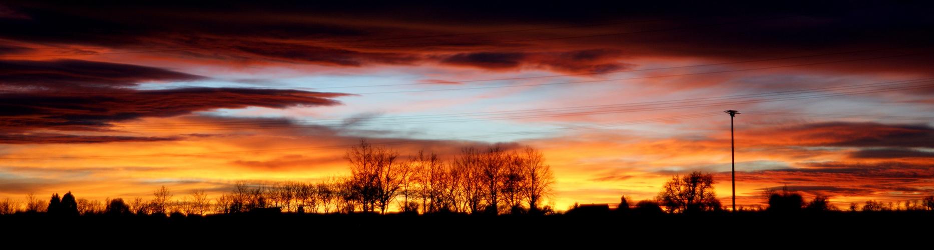 Faszinierender Sonnenuntergang
