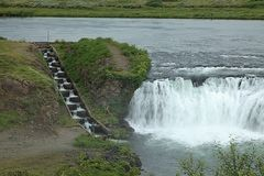 Faxifoss mit Fischtreppe