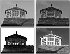 FB B&W Challenge 3/5: Mirador sobre el tejado