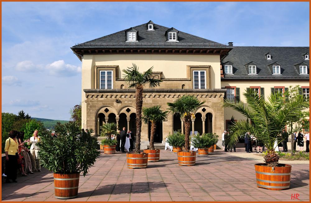 Feierlichkeiten auf dem Schloßhof vom Landgrafenschloß in Bad Homburg vor der Höhe.