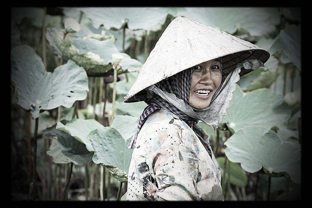 Feldarbeit im Mekong Delta von Benjamin Türksoy