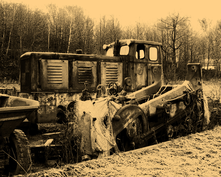 Feldbahn in sepia