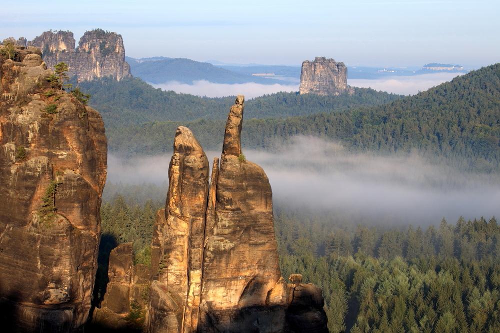 Felsen im Morgenlicht