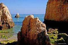 Felsenlandschaft Bucht bei Alvor Algarve