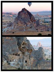 Felsenwohnungen in den Tuffsteinkegeln