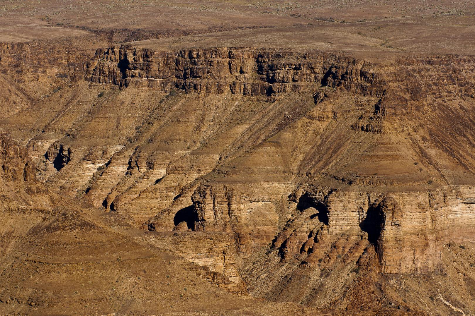 Felsformationen am Fish River Canyon