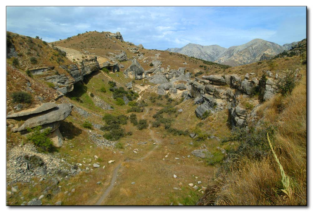 Felsige Landschaft auf der Südinsel