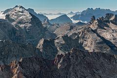 Felsschluchten westlich der Tofana di Rozes (Dolomiten)