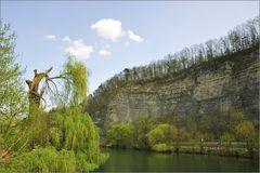 Felswand am Neckar