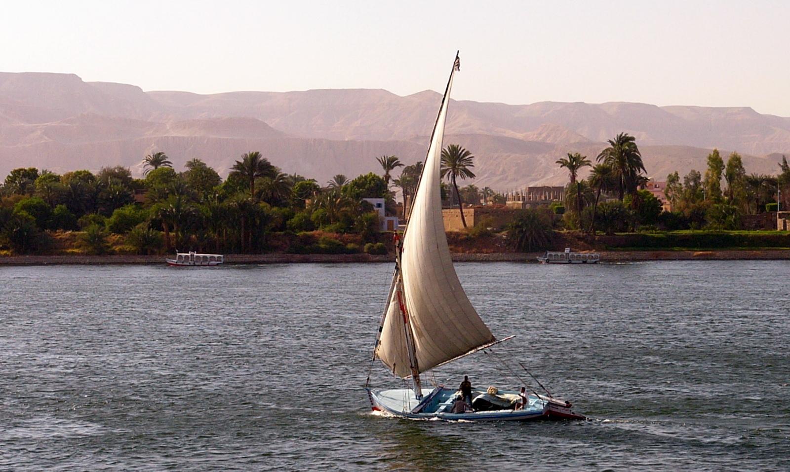 Feluke auf den Nil/Luxor