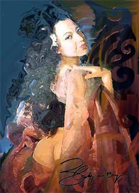 Femme . Art-Noveau