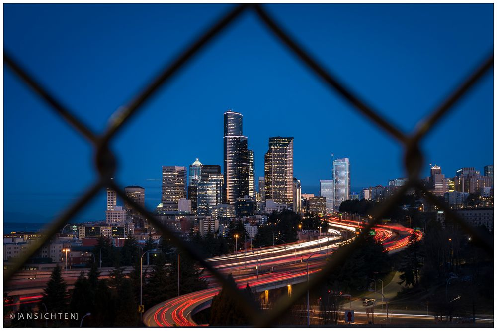 [fence I downtown seattle I traffic]