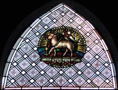 Fenster im Portal der St. Nikolauskirche