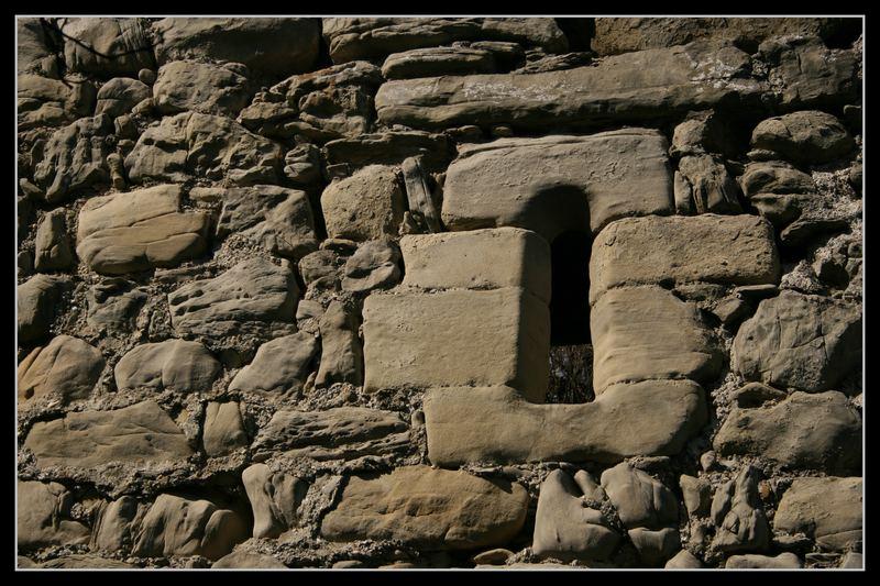 Fenster in altem Gemäuer