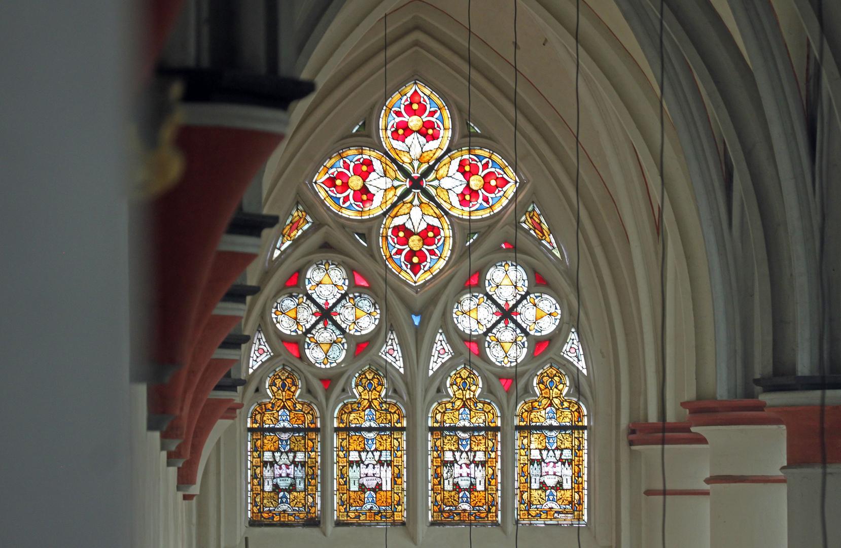 Fenster in der Westfassade des Altenberger Dom