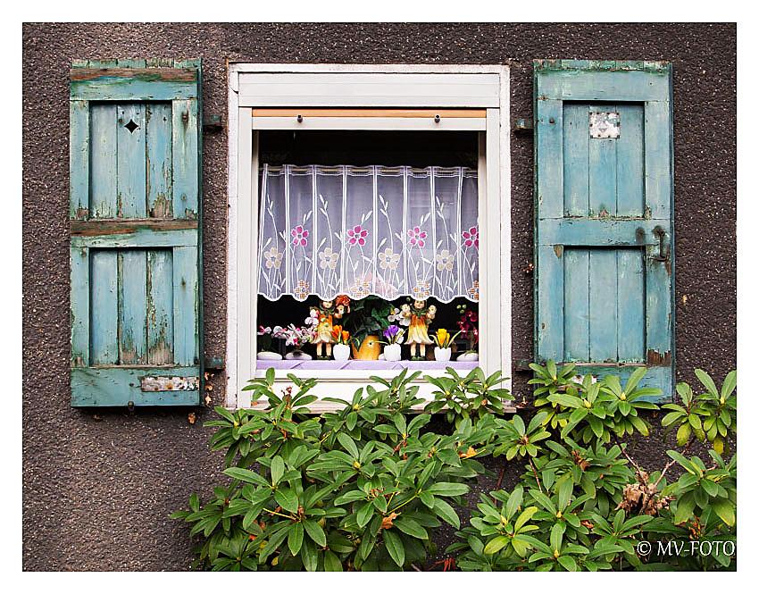 Fenster in einer alten Siedlung