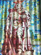 Fenster mit Ehrenmal - Motiv