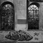 Fenster mit Graffiti