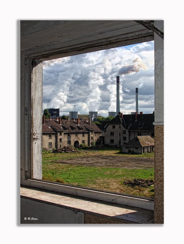 Fensterblick zur Ruhrpott-Siedlung...