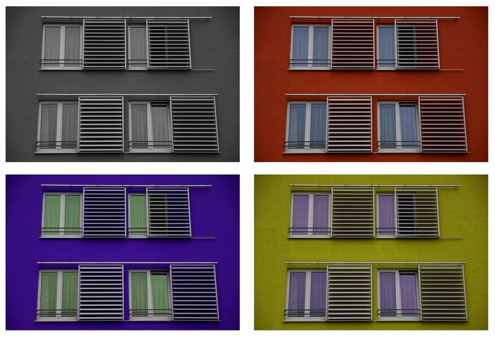 Fensterfarbenspiel