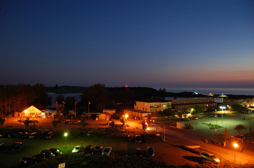 Ferienpark Heiligenhafen bei Nacht